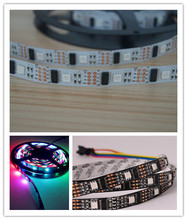 5M/lot 32LEDS 32 IC WS2801 5050 RGB LED Strip Individual Addressable 5V White PCB NP WS2801 LED Flexible Strip No-waterproof(China (Mainland))