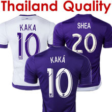 New KAKA Orlando City 2016 Soccer Jerseys Orlando City 15 16 Camisas de Futebol Home Purple Away White Football Shirt Top Thai(China (Mainland))
