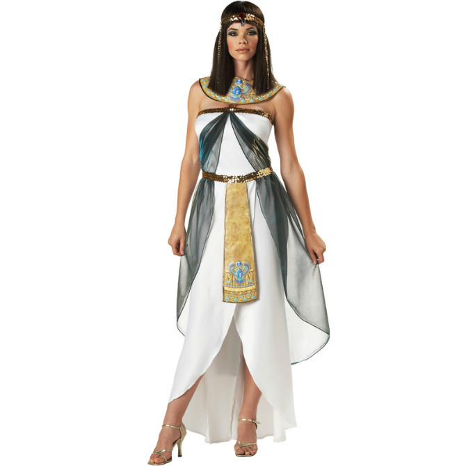 White PROM queen queen of Egypt cosplay clothing Halloween costumes take evening singer DS(China (Mainland))