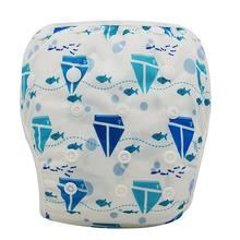 Pañal de baño de bebé Ohbabyka impermeable de tela ajustable pañales pantalón de piscina cubierta de pañal de natación reutilizable lavable pañales de bebé(China)