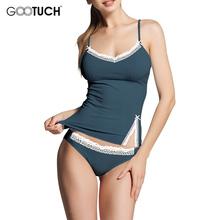 Сексуальные Pijamas Устанавливает Ночной Рубашке V-образным Вырезом Хлопок Расслоение Пижамы женские Пижамы Спагетти ремень кружева Белье G-2526(China (Mainland))