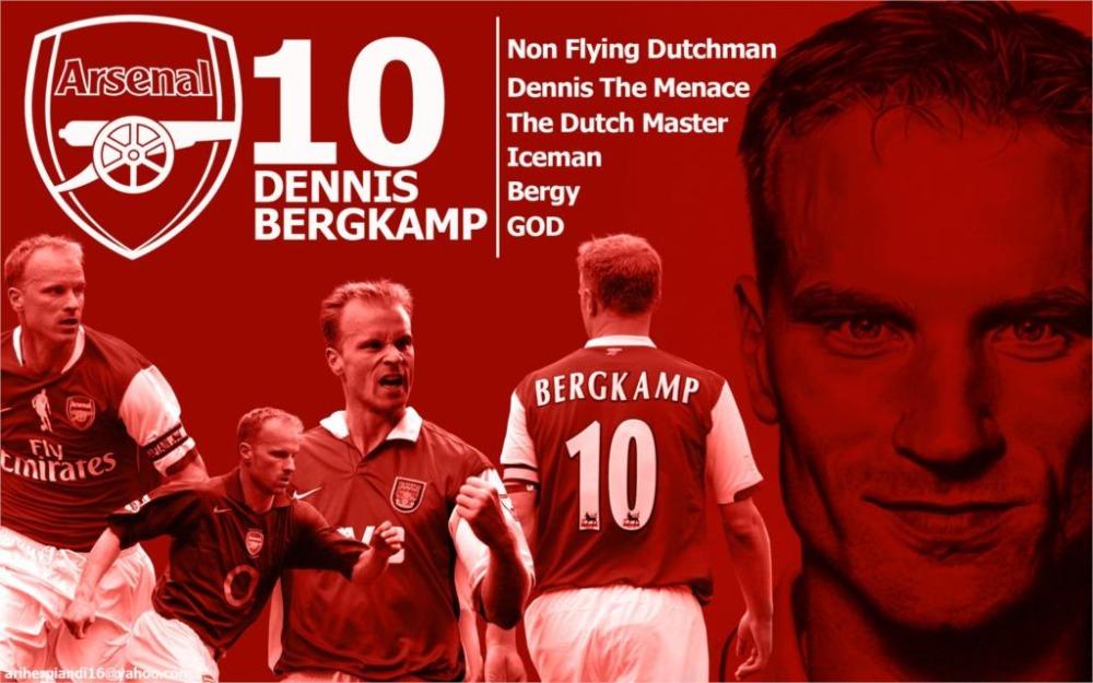 Sports Dennis Bergkamp footballers Arsenal Fc 24x36 inch art silk poster Wall Decor(China (Mainland))