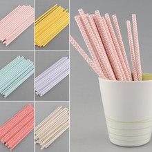 New Environmental 25 PCS Chevron Striped Paper Drinking Straws For Wedding Birthday Prom Bar/Pub Supply(China (Mainland))