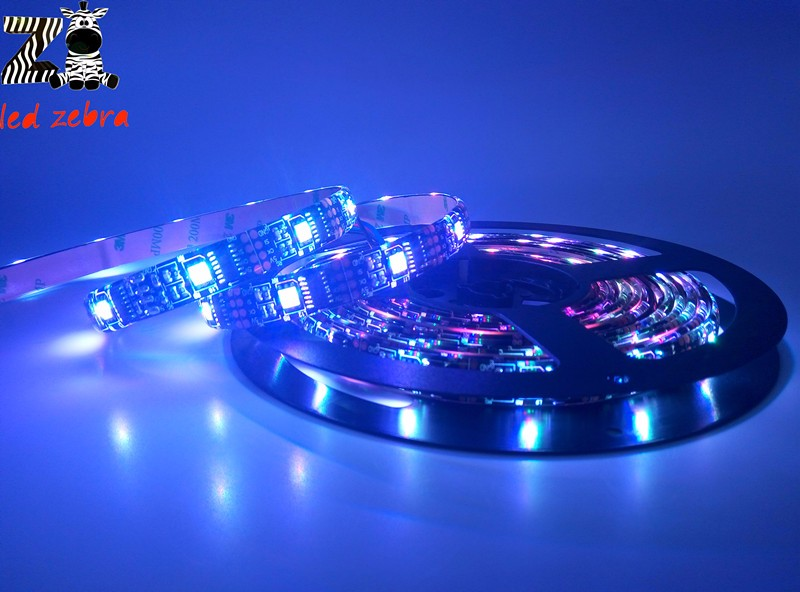 Custom length dc5v ws2801 addressable led strip,32led/m 5050 rgb led magic dream color for arduino development ambilight TV