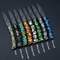 100pcs lot Wholesale 8 color Mini Folding Pocket Knife Outdoor Camping Survive Knife Beautiful Gift