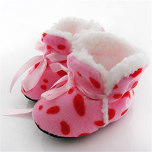 Leopard Zebra Toddler Kids Fleece Fur Boots Baby Shoes Winter Laced Ankle Socks(China (Mainland))