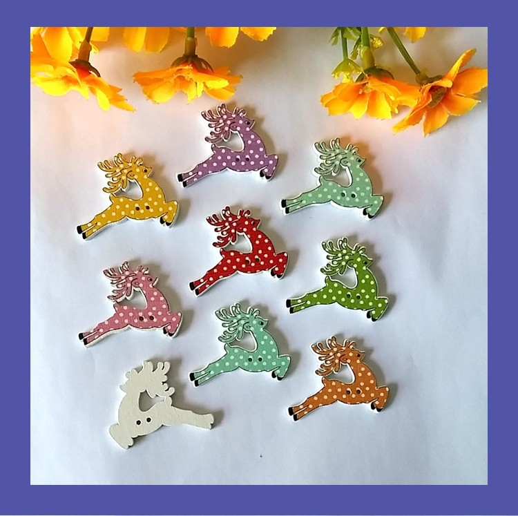 Buttons Arts,crafts & Sewing Objective 50pcs Christmas Holiday Wooden Collection Snowflakes Buttons Snowflakes Embellishments 18mm Creative Decoration