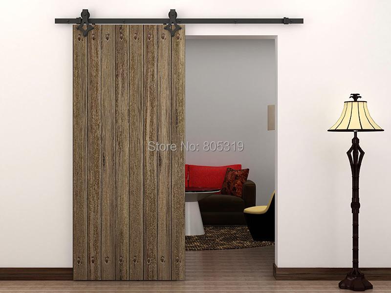 antique style rustique acier coulissante grange porte en bois placard ferrures coulissantes dans. Black Bedroom Furniture Sets. Home Design Ideas