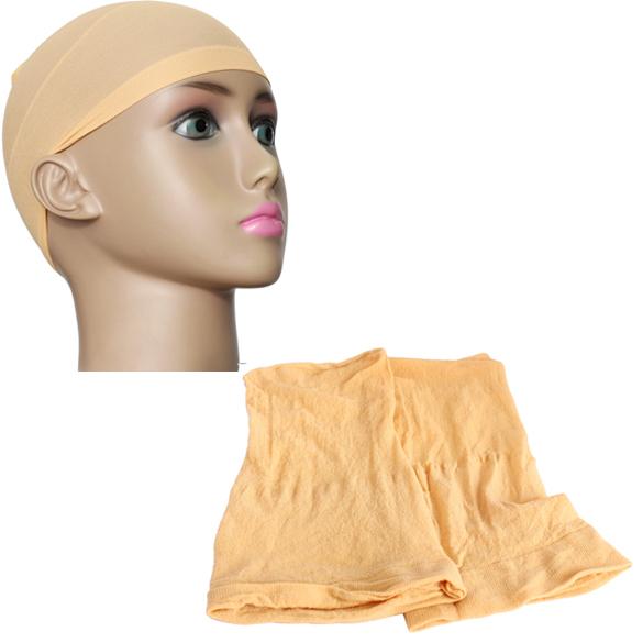 2 шт. мужская упругие парик шапки бесклеевой волос чистая парик лайнер Hairnet поводка ...