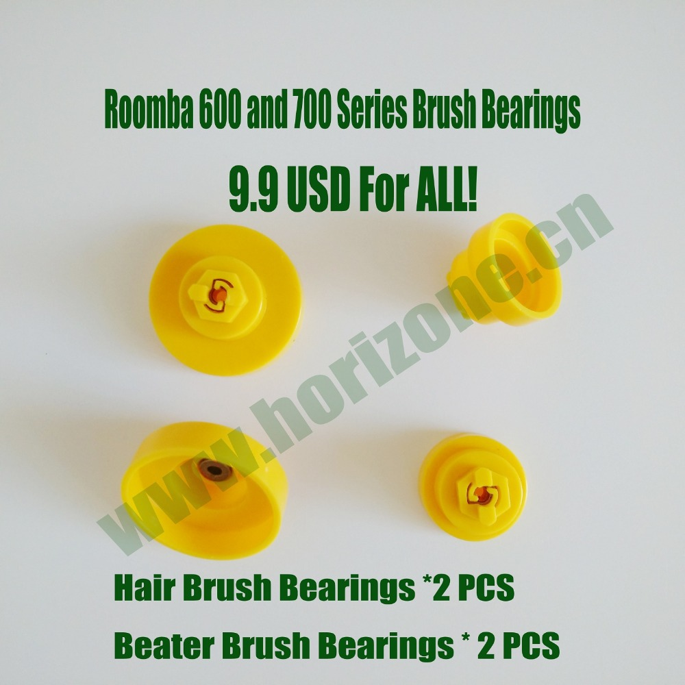 2 Pairs of Brush Bearings for iRobot Roomba 600 770 780 790 series Robotic Vacuum Cleaner(China (Mainland))
