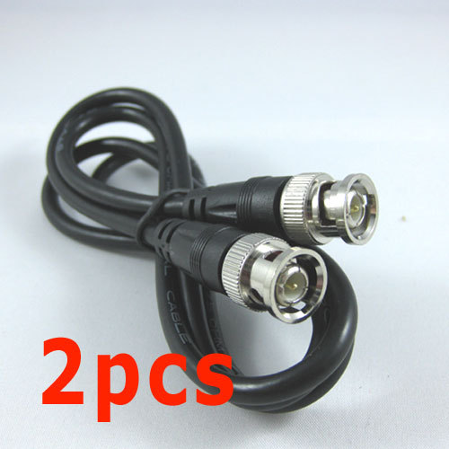 2pcs 2M 6Feet BNC RG59 CCTV VIDEO Coaxial Patch Cable for CAMERA(China (Mainland))