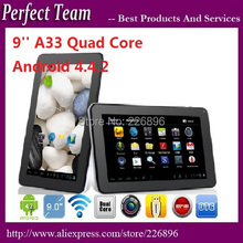 5pcs/lot DHL Free Shipping 9 inch A33 tablet pc Quad Core 512M 8GB Dual Camera Android 4.4.2 WIFI Bluetooth(China (Mainland))
