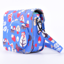 Lovely Owl Camera Bag Case Shoulder Strap Fujifilm Instax Mini 8/Mini 8s Fuji Film Blue - Jman Technology LTD store