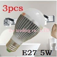 3pcs/lot 5W E27 Bubble Ball Bulb led light spotlight,white/Warm white,free shipping