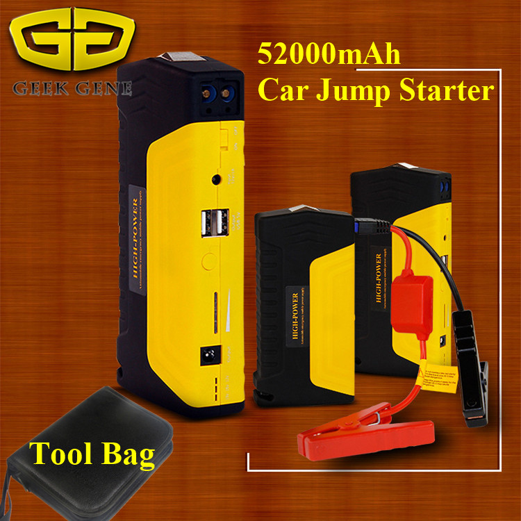 2016 New Car Jump Starter Vehicle AUTO Engine Booster Emergency Start Battery Portable Charger Power Bank for Electronics(China (Mainland))