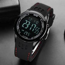Esportes dos homens Relógios OTS 30m Eletrônica À Prova D' Água LED Digital Militar Assista Men Moda Casual relógio de Pulso(China)