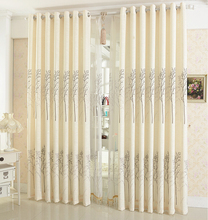 Linen Curtains For Living Room/ Tulle + Blackout Curtain 150*250cm Simple Rustic Eco-friendly Natural Healthy Free shipping()