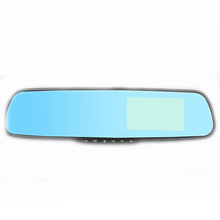 2015 Rearview mirror Car dvrs Dual lens Detector navigation rear view Video Camera recorder