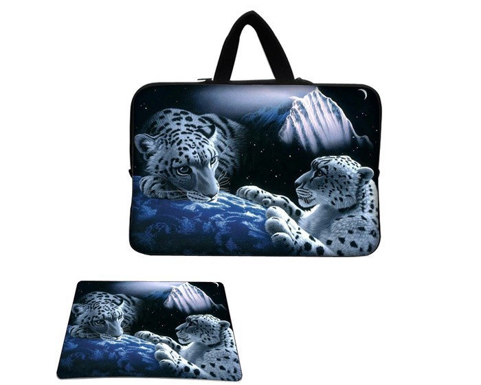 """Hot Sale Leopard 10"""" 10.2"""" 12"""" 13"""" 15"""" Laptop Sleeve Case Carry Bag Mousepad Notebook Tablet PC Handbag Free Shipping(China (Mainland))"""
