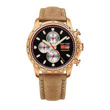 Récif tigre/RT montre de Sport pour hommes chronographe montre à Quartz avec et montre Super lumineuse bracelet en cuir de veau italien RGA3029(China)