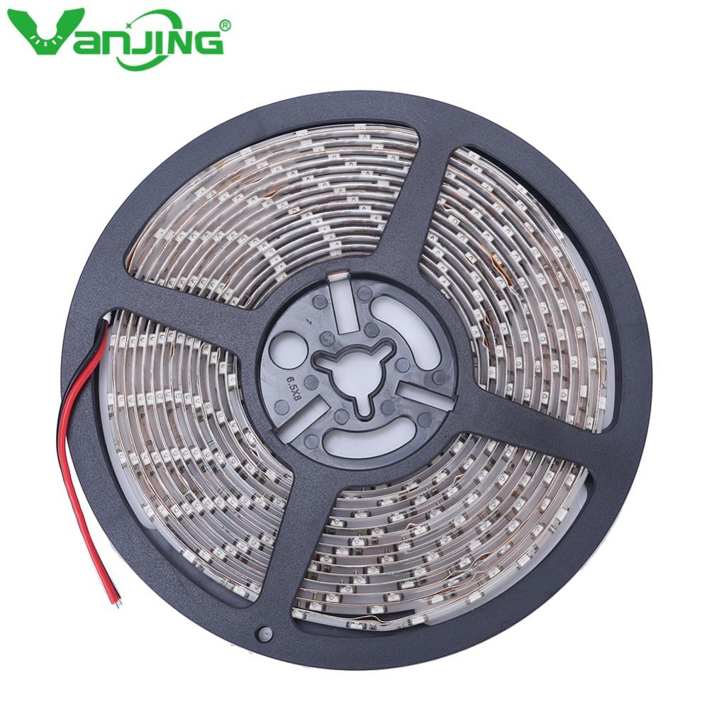 IP65 Waterproof 300leds/5M SMD 3528 RGB LED Strip Flexible Diode Tape 12V LED Ribbon 60LED/M Ledstrip for Home Decoration(China (Mainland))