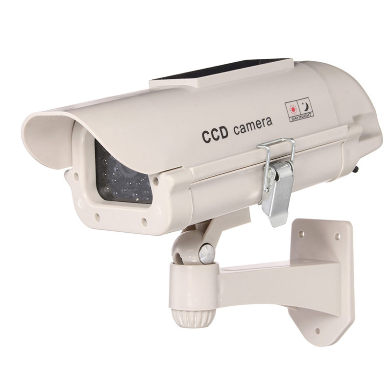 Hot Sale Plastic Fake Indoor Outdoor Safely Security 2300 Solar Simulation Camera Without Batteries White High Quality Top Sale(China (Mainland))