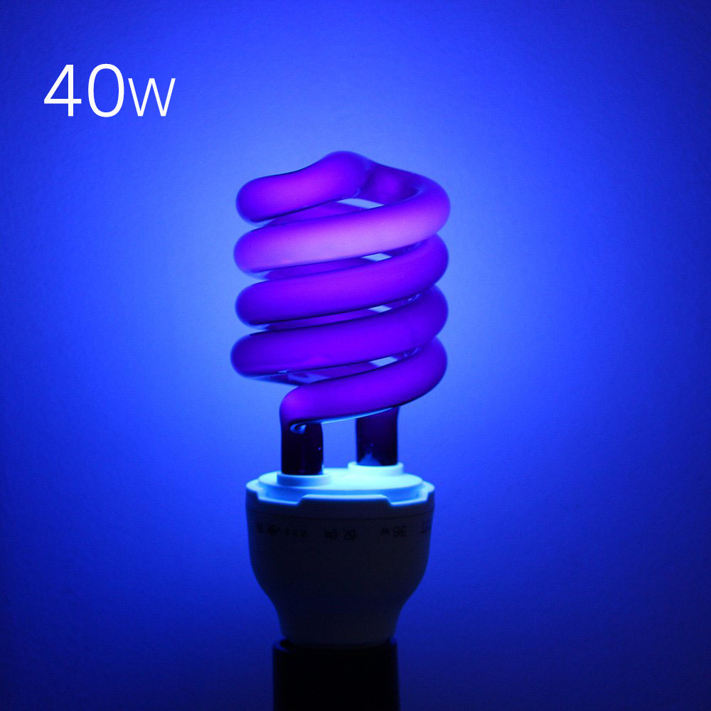 220V 36W 40W E27 Ultraviolet UV Spiral Energy Saving BlackLight Lamp With Traps Insects Stage fluorescent Lighting Bulb(China (Mainland))