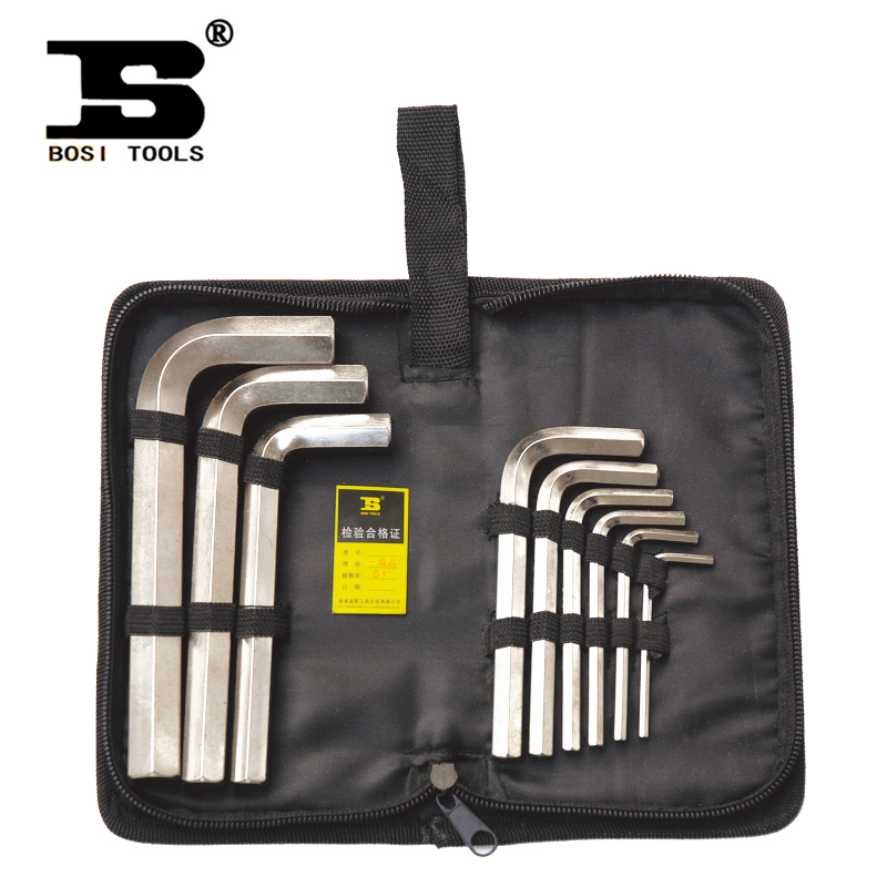 BOSI Oxford bags inside the Persian Allen wrench Set Kit Hardware Tools metric chrome vanadium alloy steel / CR-V Boutique rasp<br><br>Aliexpress