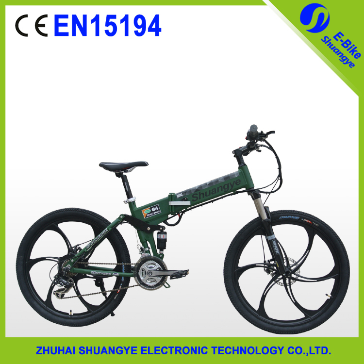 36v lithium battery folding electric bicycle outdoor sports mountain bike(China (Mainland))