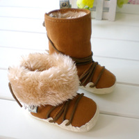 baby boots bear  shoes casual shoes baby pram shoes first walker prewalker shoes winter plush linen warm booties