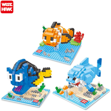 NEW WISE HAWK Finding Nemo Mini Diamond Building Blocks Children Intelligence Models Building Toy Action Figure