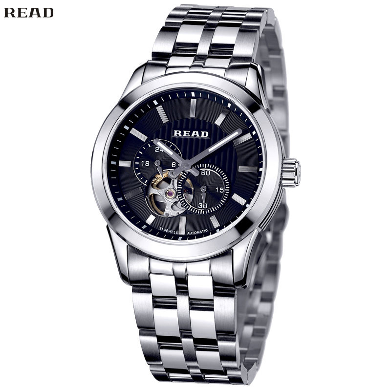 READ Men New Style Watches Quartz wristwatches Classic Bussiness Waterproof Stainless Steel Mirror Finish Dial R8006-122<br><br>Aliexpress