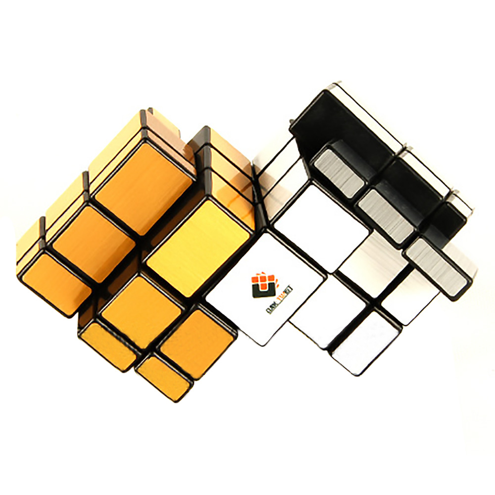 CubeTwist Siamese Conjoined Double Mirror 3x3x3 Magic Cube Special Toys For Kids Children - Silver/Gold<br><br>Aliexpress