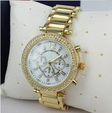 Moda De lujo Top Marca Ladies Watch mujeres Rhinestone Relojes De oro rosa De Mujer De cuarzo reloj Femme Montre Relojes De Marca Mujer