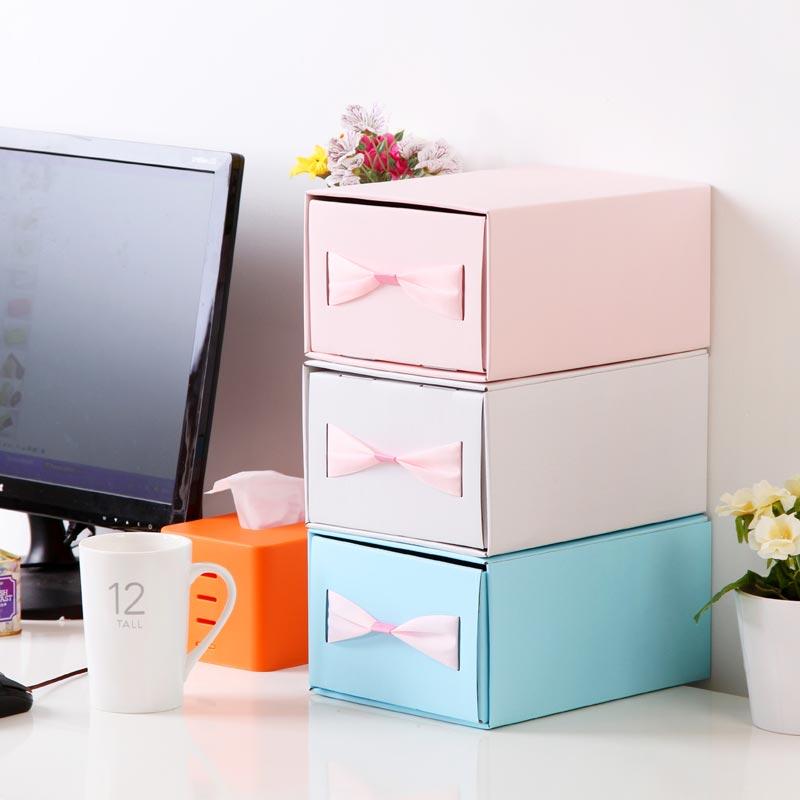 Accueil organisateur bowknot bricolage pliage ondul carton bo tes de rangement tiroir pour - Tiroir en carton rangement ...