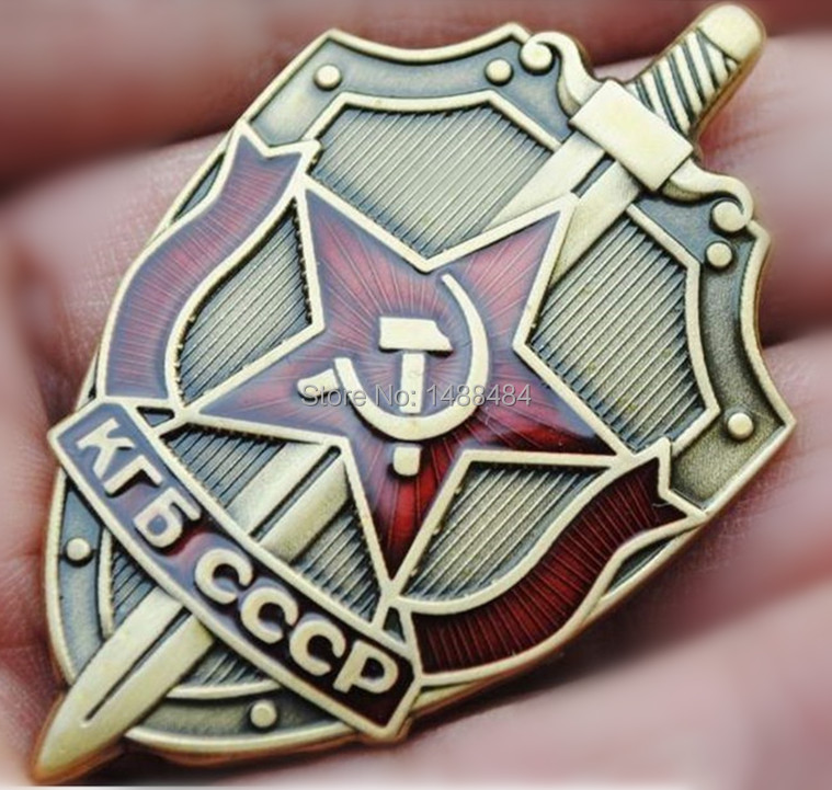 20 pcs/lot, Russian KGB the Soviet State Security Committee Badge Russia Emblem Medal of army Free shipping coins(China (Mainland))