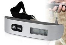 50 kg / 10 g peso Hanging LCD Digital escala del equipaje del viaje