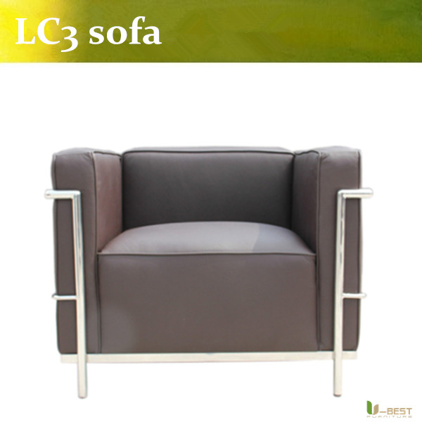 U-BEST Genuine Leather LC2 Petit Arm Chair - Inspired By Designs of Le Corbusier,arm Chair LC3 replica(China (Mainland))