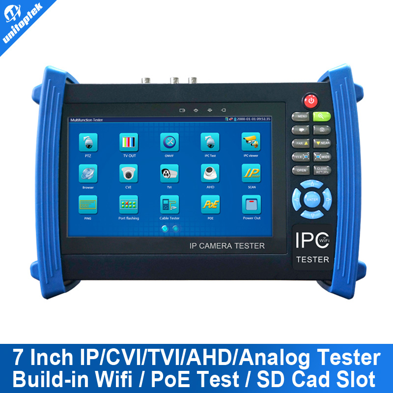 7 Inch Touch Screen IP Camera CCTV Security Tester IPC Tester ONVIF/ More IPCamera Cable/POEtest +AHD/HDCVI/HDTVI Camera Tester(China (Mainland))