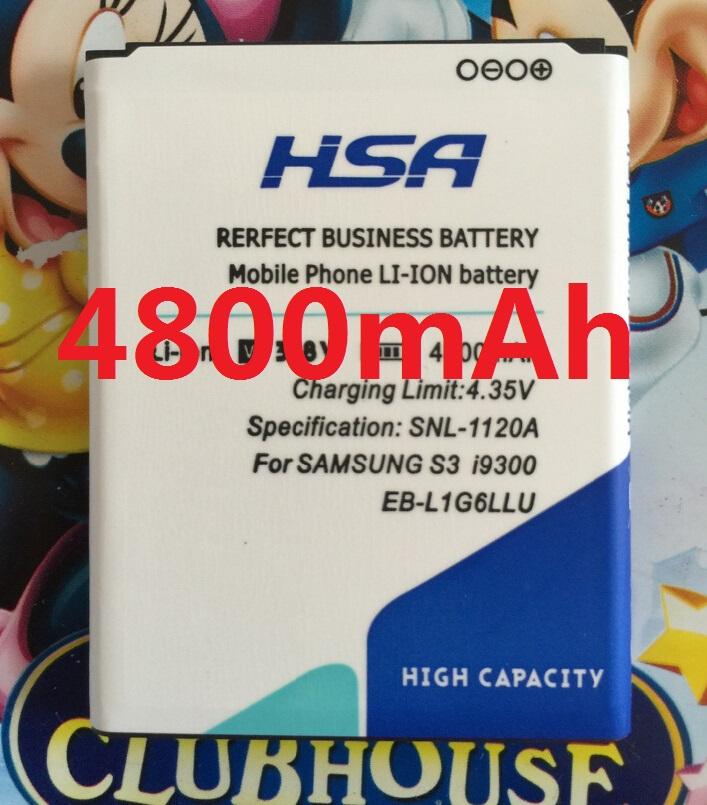 4800mAh Phone Battery for Samsung Galaxy S3 I9300/I535/I747/L710/I9308/I9305/Grand DUOS GT - i9082 i9080 i9128E i9128i i879(China (Mainland))