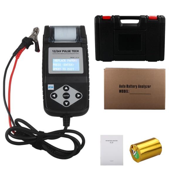 Bt750 тестер аккумулятора 12 / 24 В автомобильной аккумулятор с принтером
