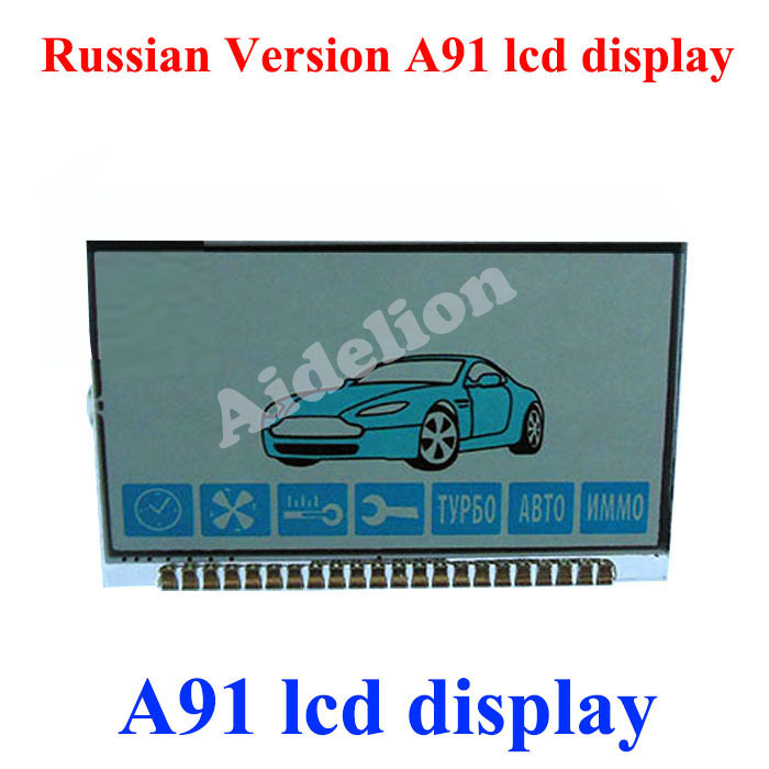 Free shipping Lcd display Russain verison A91 Lcd display for Starline A91 lcd remote two way car alarm system(China (Mainland))