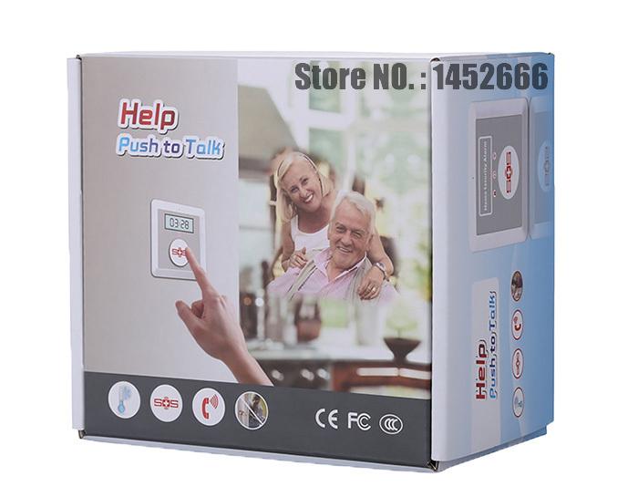 GSM home Alarm wireless emergency sos call GSM senior alert GSM public SOS call alarm with panic call button for elderly careK1(China (Mainland))