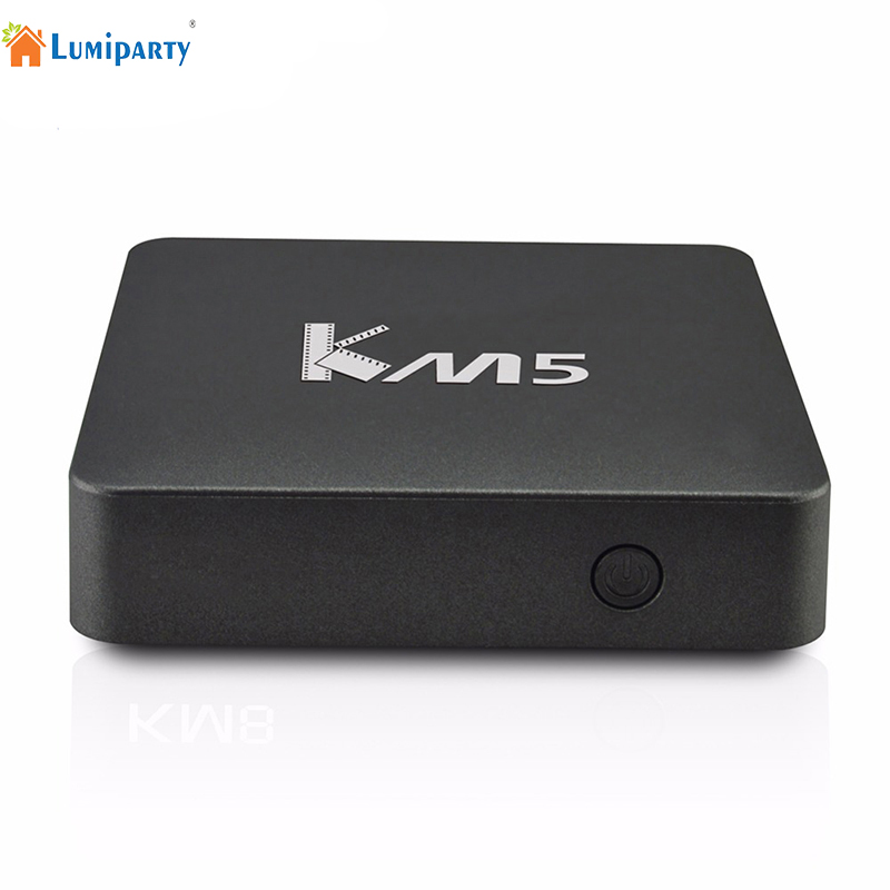 Lumiparty TV Box 1GB 8GB KM5 Amlogic S905X 64 Bit Quad-core Android 6.0 TV Smart Device HDMI 2.0 4K*2K 2.4G Wifi Media Player(China (Mainland))