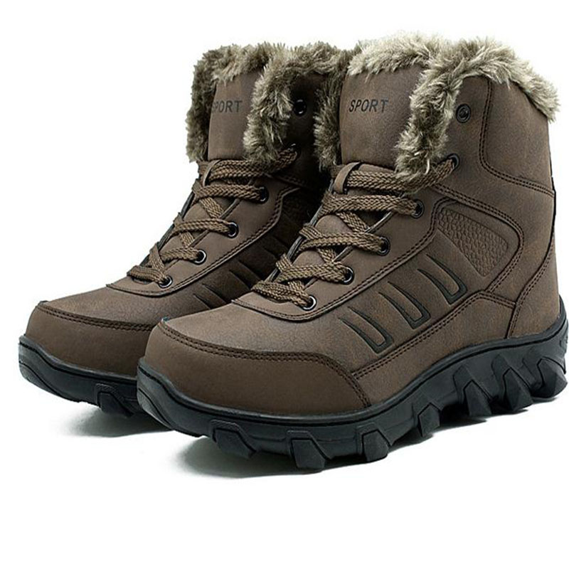 Free Shipping Men Women Winter Snow Boots Keep Warm Boots Plush Ankle Boot Snow Work Shoes Menu0026#39;s ...