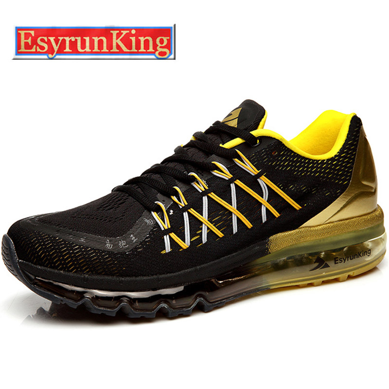 2016 EsyrunKing Men's Running Shoes For Women Outdoor Sport Sneakers Male Breathable Adult Athletic Shoes Black Free Shipping(China (Mainland))