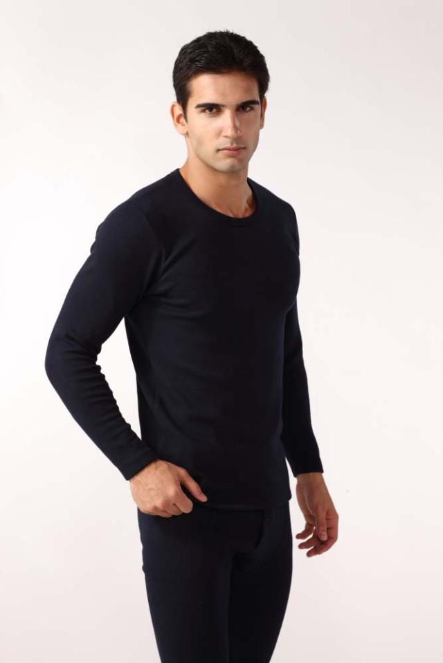 termica inverted cashmere thick warm winter suit 0-neck long-sleeved solid color underwear john john Men's thermal underwear