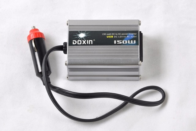 For 150W USB Car Power Inverter Adapter DC 12V to AC 220V [CP130]