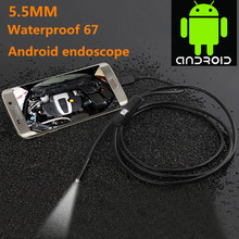"""Buy 5.5mm Lens 1M/1.5M/2M/3.5M/5M USB Cable Waterproof 6 LED Android Endoscope 1/9"""" CMOS Mini USB Endoscope Inspection Camera for $13.41 in AliExpress store"""