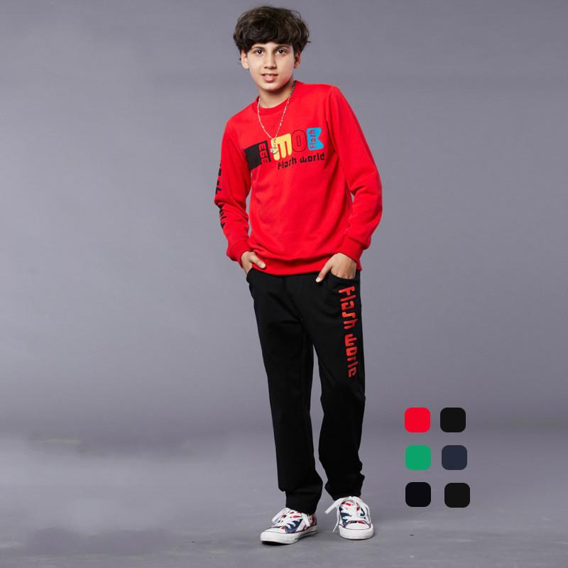 2016 Childrenu0026#39;s School Clothing Teen Boys Tracksuits Sports Outfit Sportswear Outwear 8 14Y Kids ...